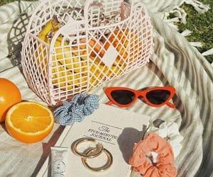 summer, orange, and sunglasses image
