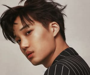 black hair, jongin, and exo image