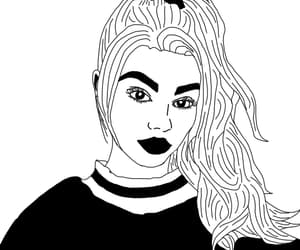 b&w, black and white, and outline image