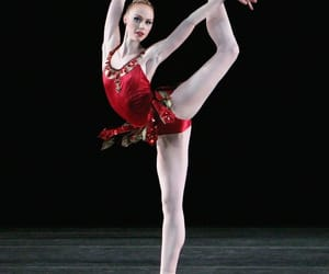 ballerina, red, and beauty image