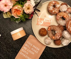 beauty, donuts, and flowers image