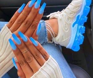 nails, beauty, and nike image