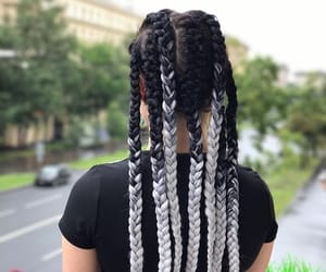 braids, cornrows, and silver braids image