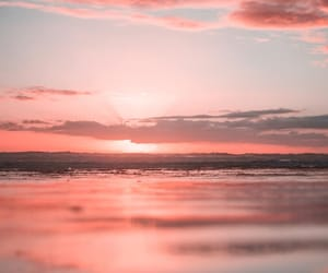 nature, pink sky, and pretty in pink image