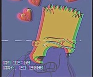 wallpaper, simpsons, and bart image