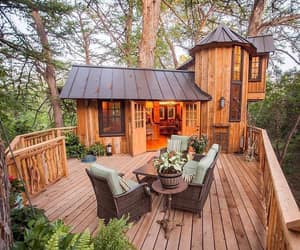 cabin, beautiful, and decor image