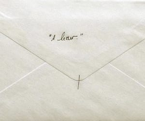 Letter and white image