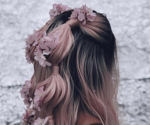 beauty, hair, and flowers image