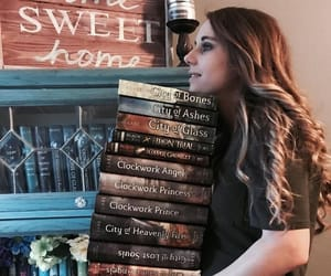 blonde, books, and wallpaper image