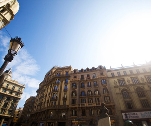 Barcelona, blue, and buildings image
