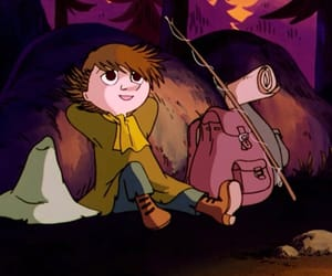 cartoon, old, and snufkin image