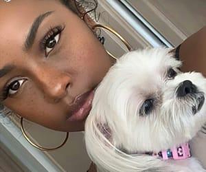 black girl, dogs, and melanin image