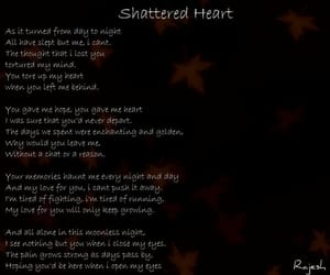 broken heart, sadness, and shattered heart image