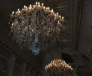 chandelier, luxe, and luxury image