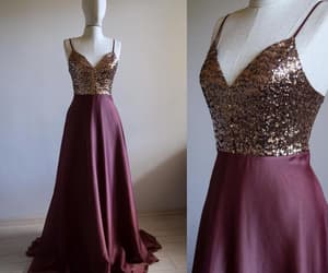 etsy, sequin dress, and floor length dress image