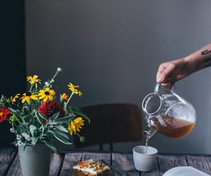 coffe, flowers, and photography image