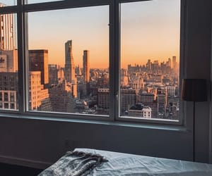 bedroom, city, and new york image