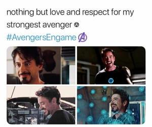 Avengers, tony stark, and endgame image