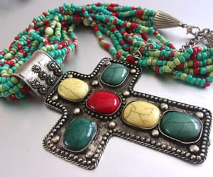 etsy, huge necklace, and multi color image
