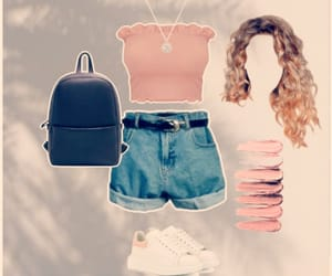 backpack, fashion, and summer image