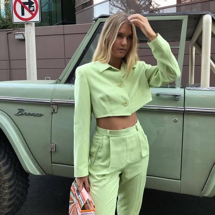 fashion, green, and style image