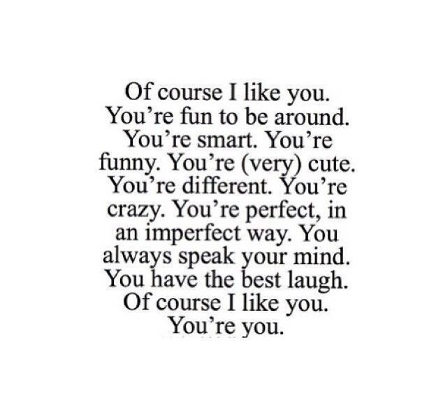 Of course I like you❤️ on We Heart It