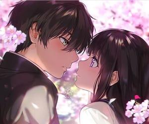 hyouka, anime, and couple image