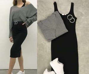 dress, earings, and moda image