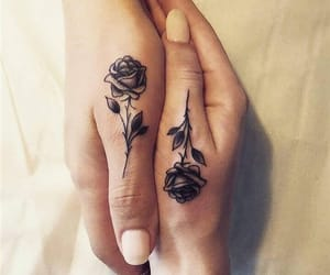 girl tattoo, heart, and travel image