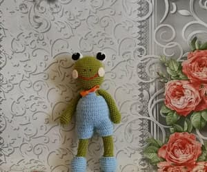 etsy, frog, and soft toy image