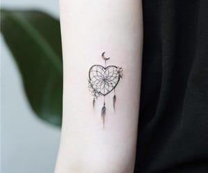books, heart, and girl tattoo image