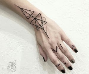 artist, tattoo, and hand image