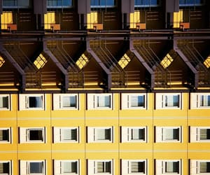 architecture, facade, and yellow image