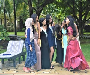 dresses, farewell, and friendshipgoals image