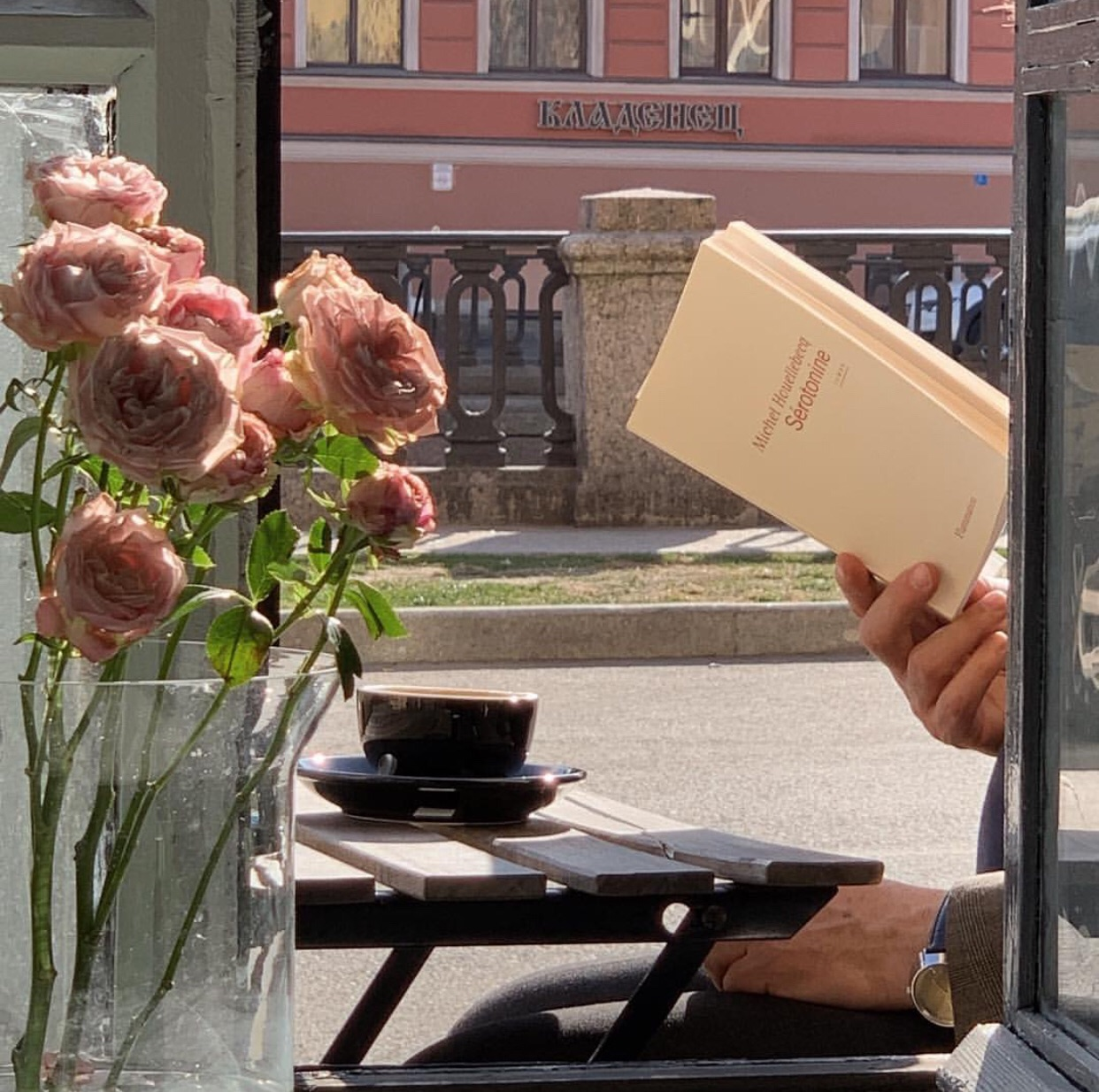 book, flowers, and city image