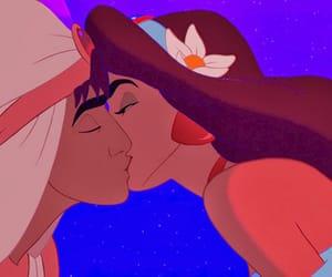 disney, aladdin, and kiss image