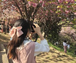 flowers, girl, and people image