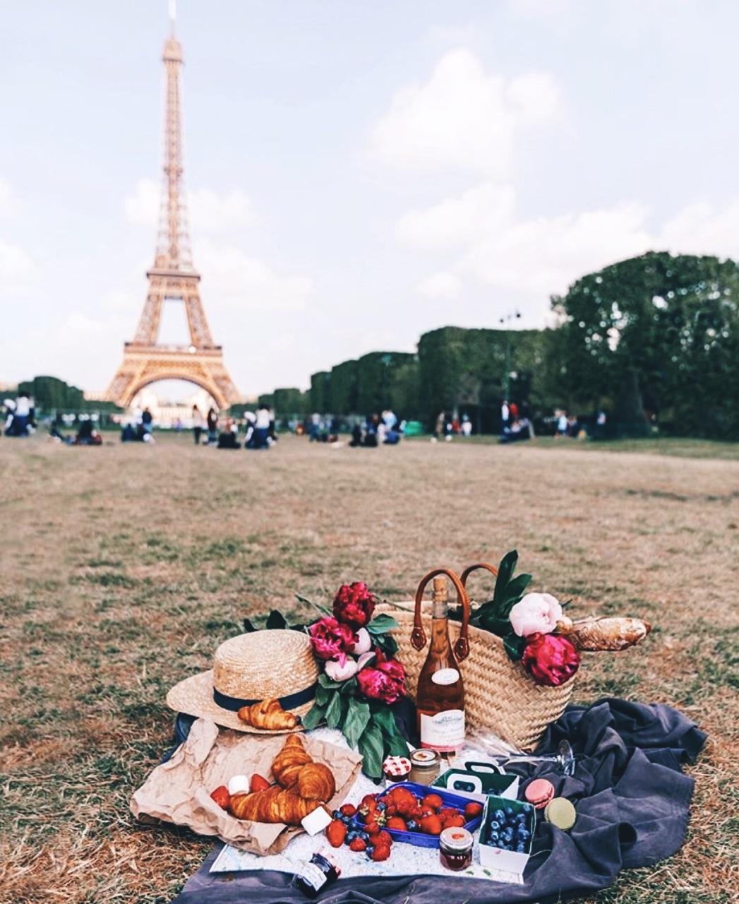 paris and picnic image