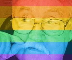 mustache, rainbow me, and lcbtq image