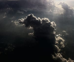 aesthetic, dark, and clouds image