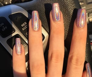nails, chrome, and moda image