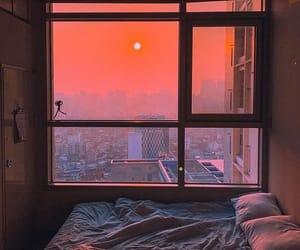 sunset, window, and aesthetic image