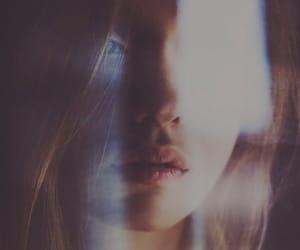 girl, light, and lips image
