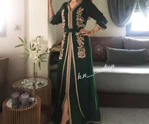 fashion, golden, and green image