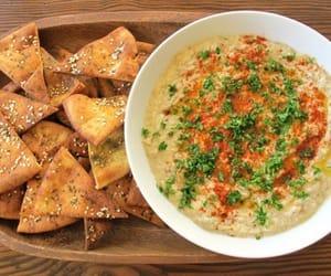 dip, food, and hummus image