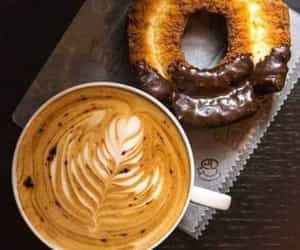 coffee, donuts, and doughnuts image