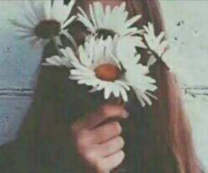 flowers, girl, and love it image