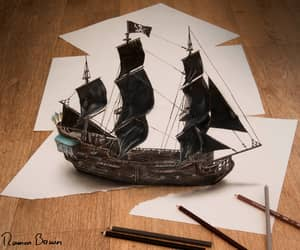 3d, drawing, and ship image