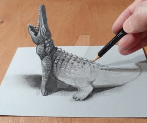 3d, vamosart, and crocodile image