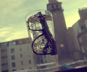 glasses, water, and photography image